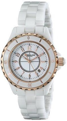cool Women's 530.114EW3 Fusion Quartz Rose Gold White Ceramic Watch - For Sale