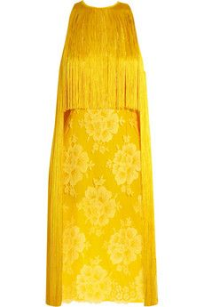 Stella McCartney fringed lace and crepe dress