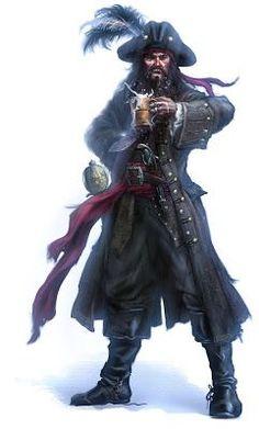 black beard pirate costume for man inspiration: