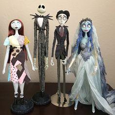 Arte Tim Burton, Estilo Tim Burton, Tim Burton Style, Tim Burton Films, Corpse Bride Doll, Bride Dolls, Corpse Bride Costume, Nightmare Before Christmas Merchandise, Nightmare Before Christmas Decorations