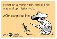 Christian hook up lines