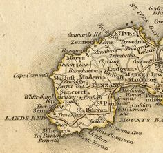 WEST PENWITH: map - Cary.jpg 652×616 pixels.