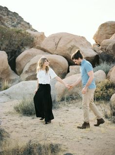 A sunny Joshua Tree Engagement Session in California complete with the coolest couple. Engagement Session, Engagement Photos, Engagement Ideas, Sunnies, Deserts, Photoshoot, Style Inspiration, Couple Photos, Couples