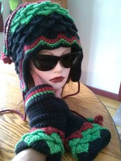 Rosalita Fleece Lined Hat Elven Collection (gloves sold separately) — Alily Crochet