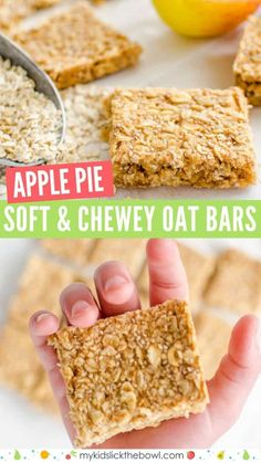 healthy oat bars, apple pie flavour an easy granola bar recipe, oat flap jacks are perfect for kids toddlers and baby led weaning granola bar snackattack babyledweaning 96475617003785029 Baby Food Recipes, Gourmet Recipes, Dessert Recipes, Kid Recipes, Recipes Dinner, School Dinner Recipes, Egg Free Recipes, Jelly Recipes, Food Baby
