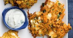 These fritters are great for a weeknight dinner or perfect as a pass-around at parties.