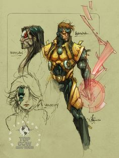 Cyberforce/Hunter-Killer sketches