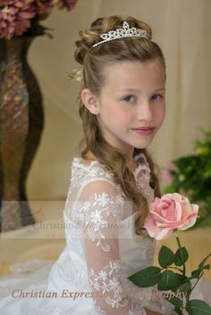 Beautiful first communion gown for season 2015. http://www.firstcommunions.com/first-communion-dresses-8020.aspx