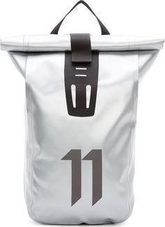 11 by Boris Bidjan Saberi: Silver Velocity Backpack | SSENSE