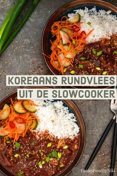Koreaans rundvlees uit de slowcooker - FunkyFood by Niki Orange Recipes, Asian Recipes, Ethnic Recipes, Indonesian Recipes, Veggie Recipes, Healthy Recipes, Veggie Food, Low Carb Brasil, Low Carb Lunch