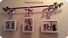 {Pictures on Curtain Rod} #DIY