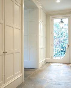 Paneled closet door