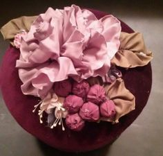 One of a kind purple velvet covered hat box & by PresentIdea, $35.00
