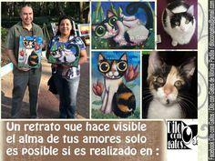 Dos retratos realizados a pedido. Pinturas originales de  Mónica Padilla México