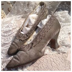 c5b23f006cc3 Most Stunning ethereal rare silver metallic by Theappleofhereye 1920s  Womens Shoes