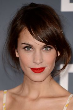 Alexa Chung's Party Hairstyle Is A Simple Up-do