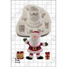 SANTA & GIFTS - FPC Sugarcraft silicone mould - cake cupcake icing sugarpaste modelling paste Christmas - from only @ Cake Stuff Resin Molds, Silicone Molds, Decorative Leaves, Baby Dragon, Xmas Presents, Santa Gifts, Food Gifts, Celebration Cakes, Craft Projects