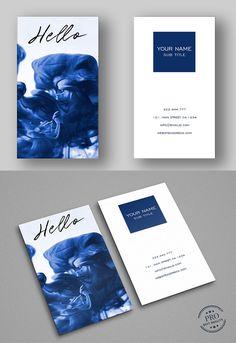 Blue Splash Cool Business Card #businesscard #psdtemplate #visitingcard #printready #elegantdesign #branding