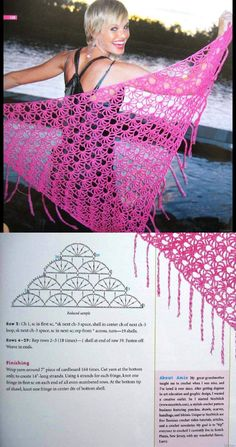 Crochet shawl by diane smith – Artofit Crochet Blouse, Crochet Poncho, Crochet Scarves, Crochet Yarn, Crochet Clothes, Shawl Patterns, Crochet Stitches Patterns, Doily Patterns, Crochet Shawl Diagram