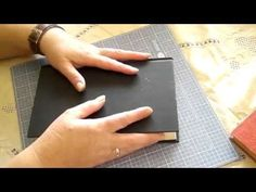 ▶ Junk Journal made using an old Book Cover  - free video tutorial series by Marianne Kensington