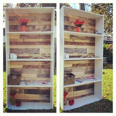Hey, I found this really awesome Etsy listing at https://www.etsy.com/listing/210316096/reclaimed-pallet-bookshelf