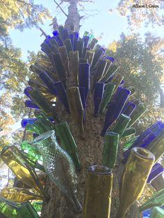 Inn at Huntingfield Creek #winebottles #bottles #treedecor #RockHall #Maryland #bedandbreakfast #bandb #ChesapeakeBay #Chesapeake #inn