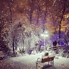 First snow in Ankara Christmas Scenery, Merry Christmas Happy Holidays, Winter Wonderland Christmas, Christmas Art, Winter Christmas, Winter Images, Winter Pictures, Christmas Pictures, Winter Szenen
