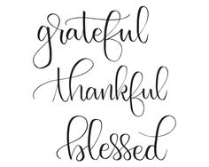 Grateful Thankful Blessed Sign, Thanksgiving Print, Fall Printable, Kitchen Sign, Holiday Decor, Inspirational Quote, Typography Wall Art by LettersByKrystle on Etsy https://www.etsy.com/listing/490700465/grateful-thankful-blessed-sign