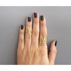 Hidden messages. Golden rings. Handmade Detail. Yes Please, @Hila_Binyamin!  Etsy Shop: HilaBinyamin  #HilaBinyamin #Rings #Jewelry #Gold #Handcut #TelAviv #Accessories #HandmadeLoves
