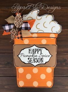 Pippa Blu Designs on Etsy Excited to share this item from my shop: Pumpkin Spice Door Hanger Halloween Door Hangers, Fall Door Hangers, Burlap Door Hangers, Wooden Hangers, Wooden Door Signs, Burlap Door Signs, Porch Signs, Wood Signs, Pumpkin Door Hanger