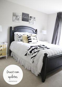 Black and white room decor + free designs on iheartnaptime.com #shutterflydecor