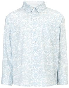 My Design Elephant Print Shirt | Blue | Monsoon