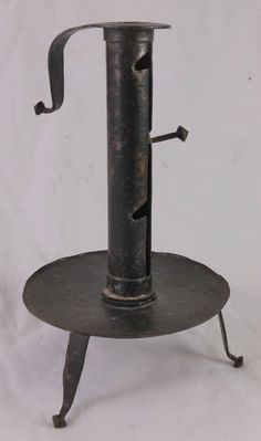 Fabulous 18th or Early 19th C Forged Iron Adjustable Candlestick Forged Feet   eBay  sold   390.00.    . ~♥~