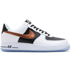 "finest selection 9229c 0cbd0 Nike Air Force 1 Low ""White, Black Copper"" ❤ liked on Polyvore featuring"