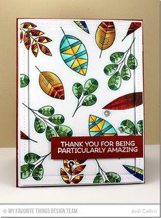 Geometric Greenery Stamp Set, Single Stitch Line Rectangle Frames Die-namics - Jodi Collins #mftstamps