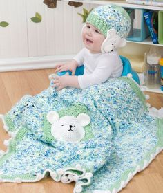 Polar Bear Blanket & Hat