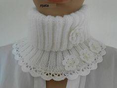 col snood blanc femme /Tour du cou crocheté/col roulé/accessoires tricotés/snood tricot/echarpe dentelle tricot blanche/écharpe laine
