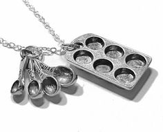Baker's Necklace Cupcake Pan and Measuring Spoon by BitOfSugar, $18.95