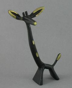 Vintage Mid Century Walter Bosse Hagenauer Era Bronze Giraffe Figure 16cm 1950s #Modernist