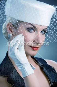 Google Image Result for http://static3.depositphotos.com/1001951/208/i/450/dep_2084579-Young-woman-in-white-hat-with-net-veil.jpg
