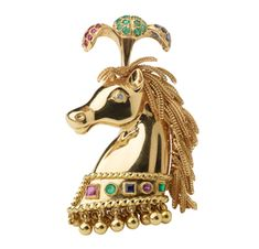 FD GALLERY | Rare & Vintage | A Multi-gem and Gold Horse Brooch, by Rene Boivin