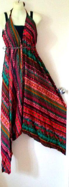 Plus One size 14 16 18 20 22 Hippy Bohemian Rayon pant Jumpsuit leisurewear