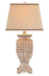 JAlexander Lighting Antiqued White Table Lamp