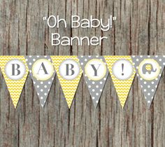 this printable baby shower banner is the perfect decoration to add to your party we
