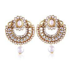 Shop Online Jewellery Pearls Earrings Set Designs ,Indian Dresses