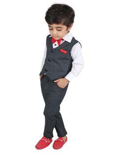 The Well Dressed Boy Waist Coat Set 3 pc at Foreverkidz