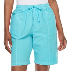 Women's Gloria Vanderbilt Shorts, Size: Medium, Turquoise/Blue (Turq/Aqua)