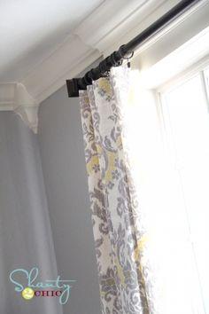 How to sew easy drapery panels