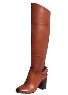 Vince Camuto Women's Sidney Riding Boot, Warm Brown, 9.5 M US *** You can get more details by clicking on the image.
