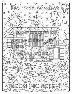 Coloring Page To Relax Soothing Calm And Delightful Pages Color Summer Beach